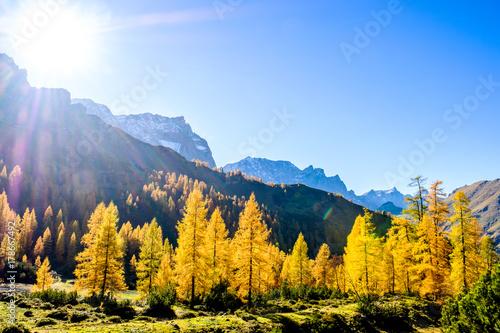 Aluminium Blauwe hemel karwendel mountains