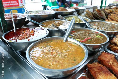 Foto op Plexiglas Bangkok Variety of chili paste for sell at Saphan Khwai, Bangkok, Thailand