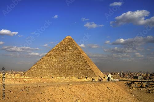 Poster Egypte Pyramids of Giza. Cairo, Egypt.