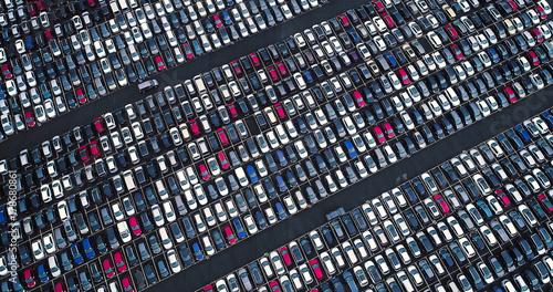 Foto Murales parc géant de voiture neuve
