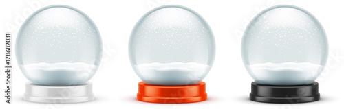 Foto op Plexiglas Bol Boules à neige vectorielles 7