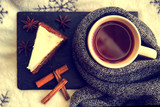 Tea with cake, cinnamon and anise - 178688626