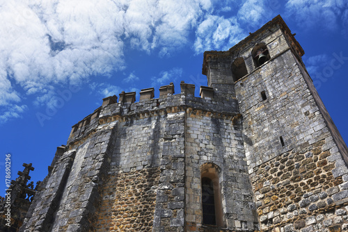 Exterior of Templar church of the Convent of the Order of Christ in Tomar Portug Poster