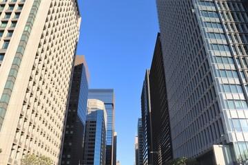 東京・大手町の高層ビル群