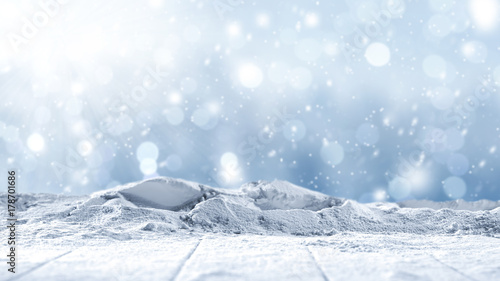stone background and snow  - 178701686