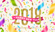 Happy New year 2018 greeting vector illustration