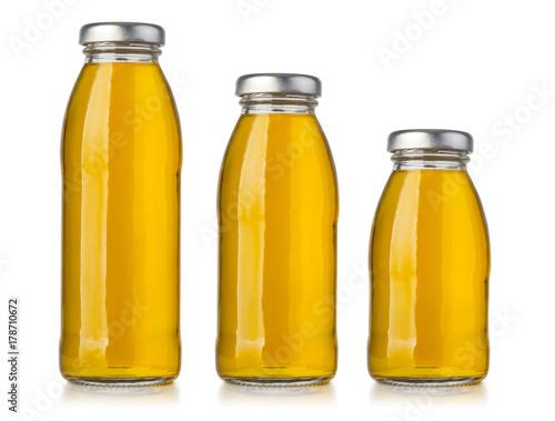 Fotobehang Sap bottle of apple juice