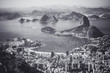 Quadro Rio de Janeiro, Brazil. Suggar Loaf and Botafogo beach viewed from Corcovado