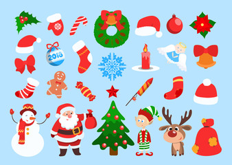 Funny Christmas stickers.