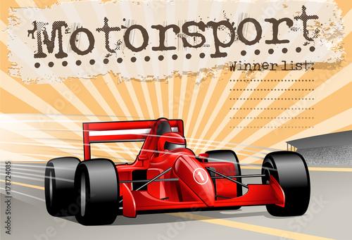 Fotobehang F1 race car winning list