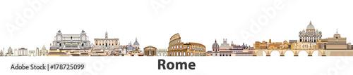 Rzym wektor panoramę miasta
