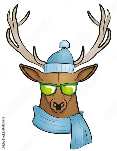 Aluminium Hipster Hert cool stag