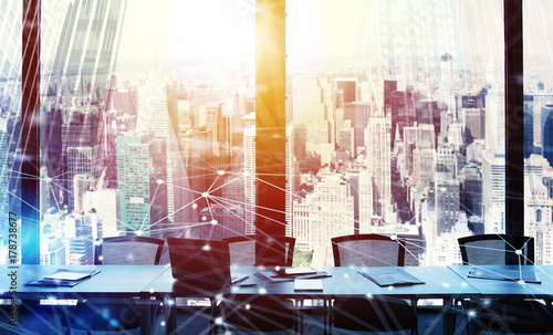 Papiers peints Kiev Business office with network effect