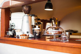 A beautiful bar with a coffee bar and a dessert - 178740406