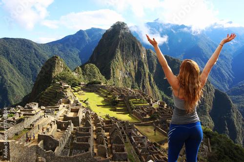 Machu Picchu Tourist Poster