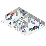 office and production of the advertising center, people in the working environment, the interior of the office - 178754276