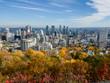 Montreal Skyline Autumn