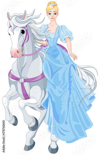 Papiers peints Magie The Princess Is Riding a Horse