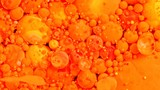 Bright Vibrant Swirling Colors - orange red and yellow spheres balls orbs - 178764656