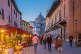 Restaurants in old town of Pisa