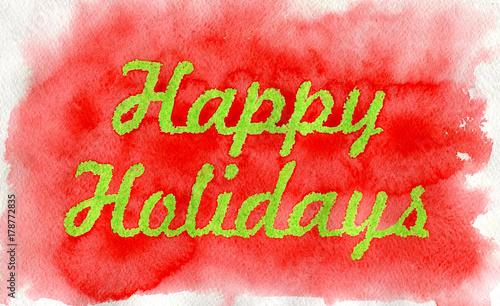 Foto op Canvas Baksteen Happy Holidays