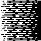 Vector Halftone Transition Abstract Wallpaper Pattern. Seamless Black And White Irregular Rounded Lines Background for modern flat web site design - 178781424
