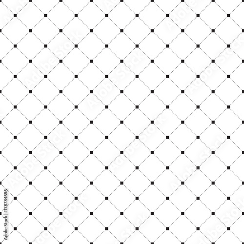 Striped repeating geometric square tiles with dotted rhombus. Modern stylish texture. - 178784696
