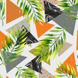 Abstract summer geometric seamless pattern. - 178791019