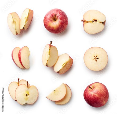 Fresh apple isolated on white background - 178792002