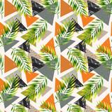 Abstract summer geometric seamless pattern. - 178793632
