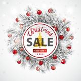 Christmas Sale Frozen Twigs Snowfall Baubles Wall Sticker
