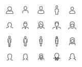 Premium set of user line icons. - 178798893
