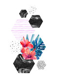 Abstract watercolor tropical background. - 178802832