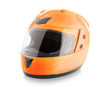 Fototapety Motorcycle helmet over isolate on white with clipping path.