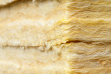 Mineral wool thermal insulation batts close-up - 178805248