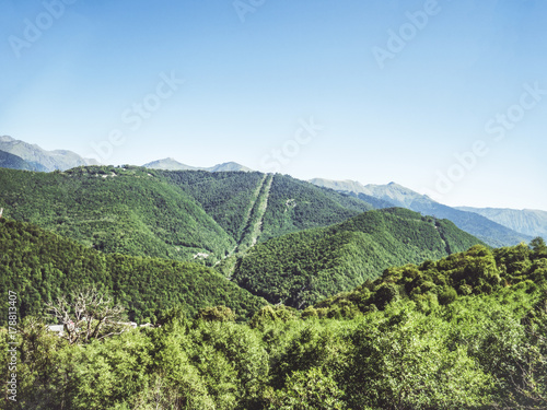 Foto op Plexiglas Pistache summer mountain view