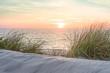 Leinwanddruck Bild - Sonnenuntergang an der Ostsee
