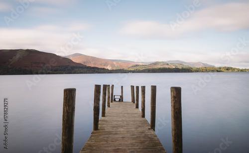 Fotobehang Pier Derwent Water Pier