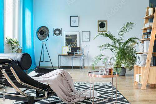 Designer furniture in loft Poster
