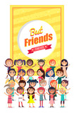 Best Friends Forever Poster with Group of Kids