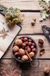 nuts, hazelnuts, walnuts,