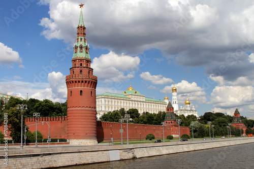 Fotobehang Moskou Architectural ensemble of the Moscow Kremlin.