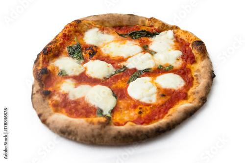 Deurstickers Pizzeria Classica pizza con mozzarella di bufala, Italian Pizza with Buffalo mozzarella