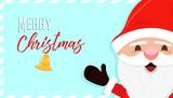 Merry christmas holiday santa claus cartoon card - 178849627