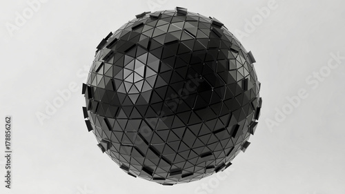 © PixlMakr - Fotolia.com Futuristic black sphere of triangles