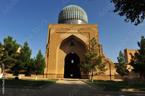 Poster Oceanië Samarkand: entrance to the mosque