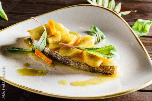 Foto op Plexiglas Steakhouse fish steak