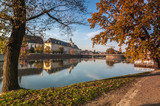 View on Wroclaw University from Malta Island over Oder river