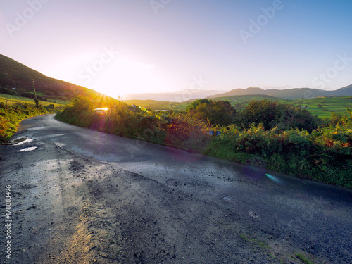 Foto op Canvas Wit Early Autumn countryside morning,Northern Ireland
