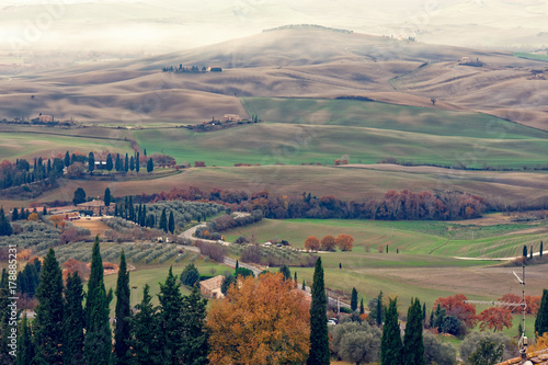 Deurstickers Toscane tuscany countryside landscape winter